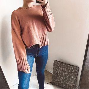 topshop - ribbed chunky crewneck sweater